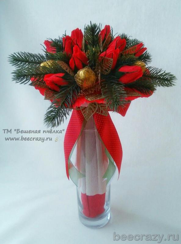 Фото букет алых роз